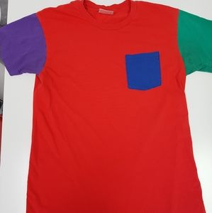 American Apparel COLOR BLOCK T-Shirt